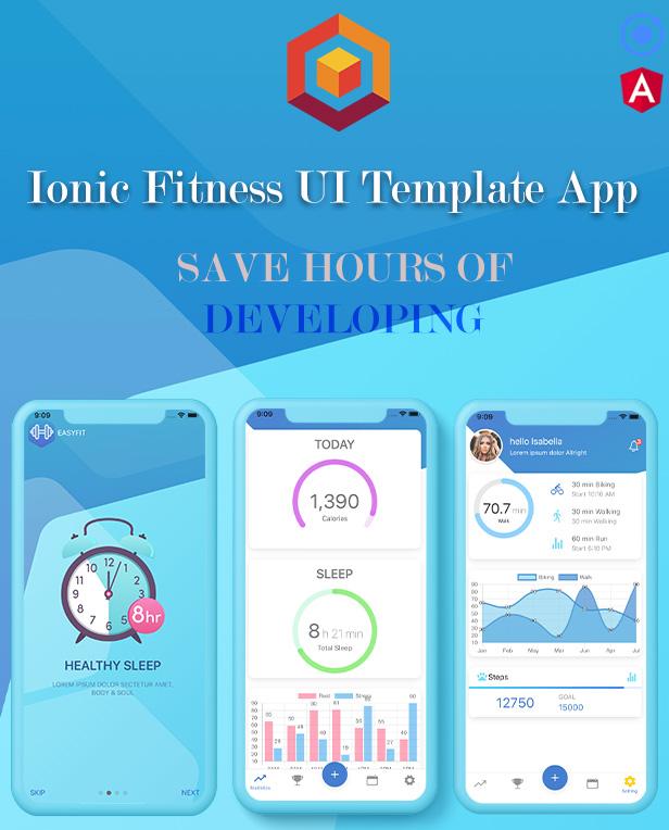Ionic 5 / Angular 8 Fitness UI Theme / Template App | Starter App